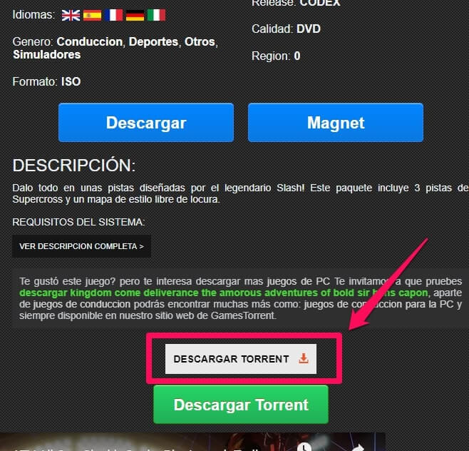 How to download files from Games Torrents