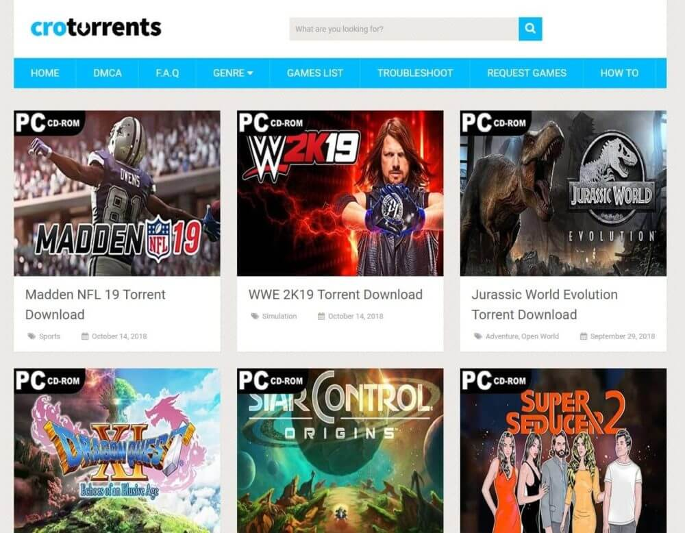 A review of the game torrents site, CroTorrents