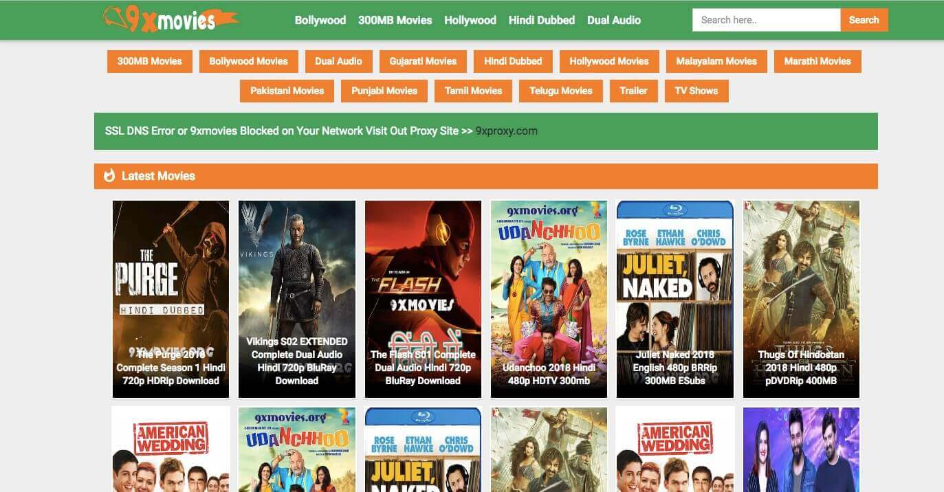 9xMovies torrent site review