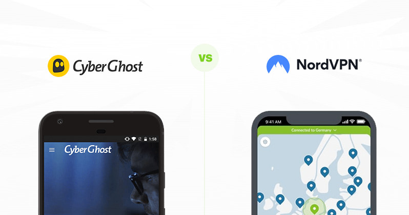 CyberGhost vs NordVPN comparison