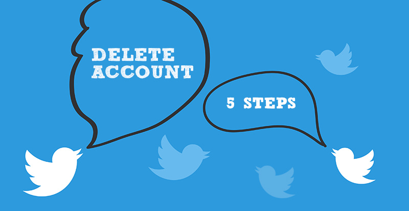 delete Twitter account in 5 steps