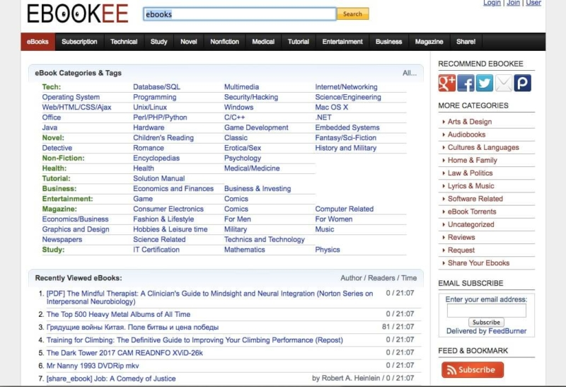 Ebookee site review