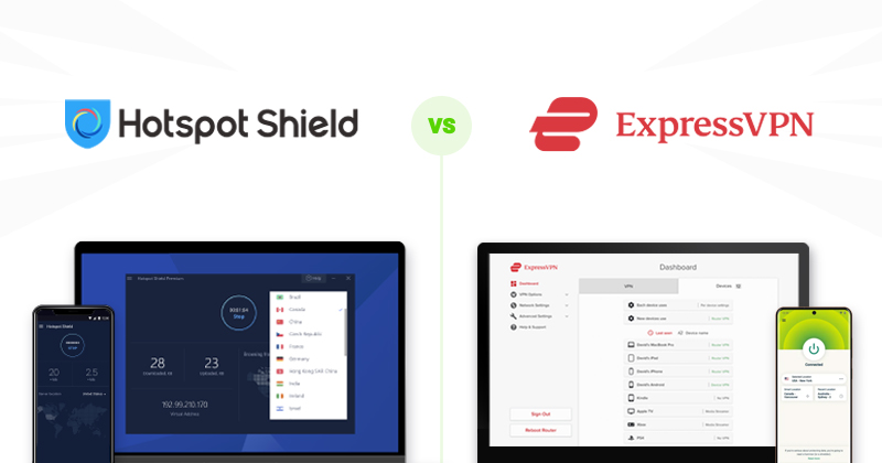 Hotspot Shield vs ExpressVPN comparison
