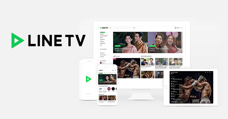 Line TV in Thailand and Taiwan