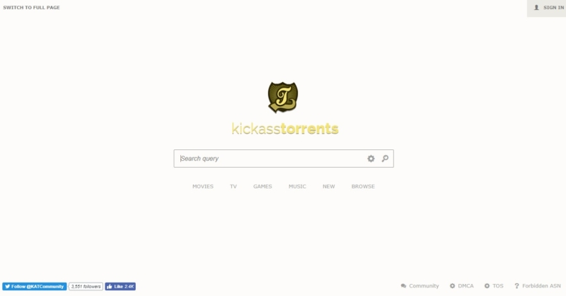 katcr.co - Kickass Torrents mirror