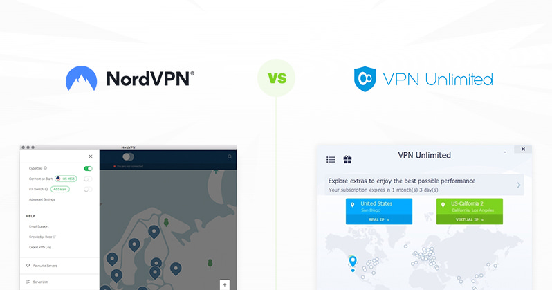 NordVPN vs VPN Unlimited comparison