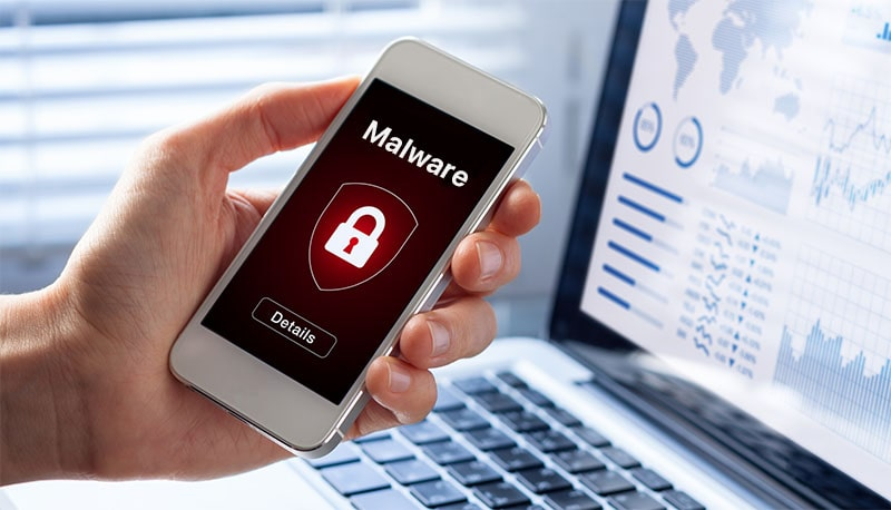 Smartphones infected with malware