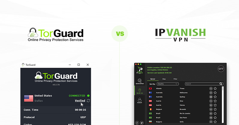 TorGuard vs IPVanish