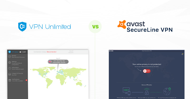 VPN Unlimited vs Windscribe VPN - a side-by-side comparison