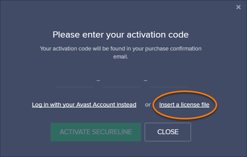 activate avast secureline vpn