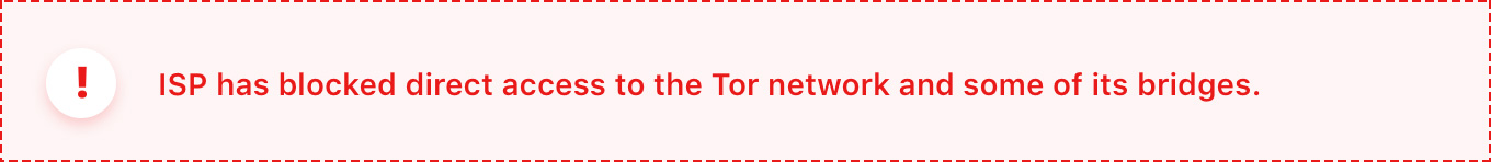 direct access to the tor is blocked