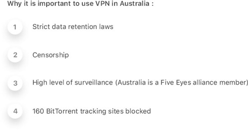 Use VPN in Australia