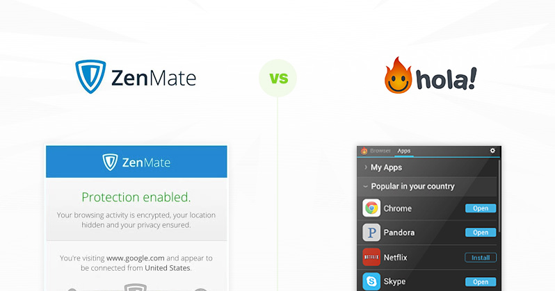 Windscribe VPN vs. ZenMate VPN 2019