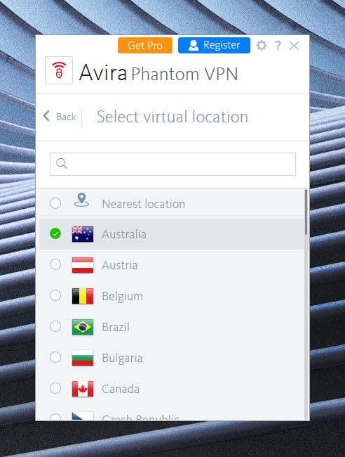How to use avira vpn