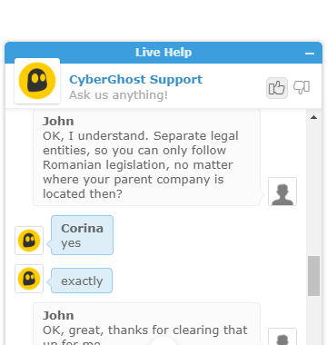 CyberGhost Support 3