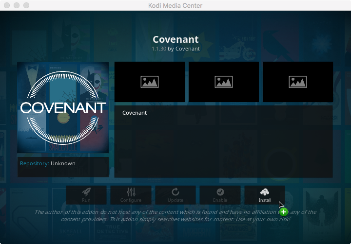 Step 12 - click install covenant