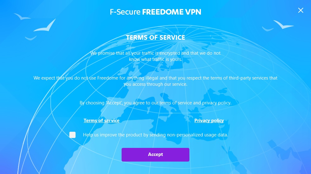 F-Secure Freedome terms of service