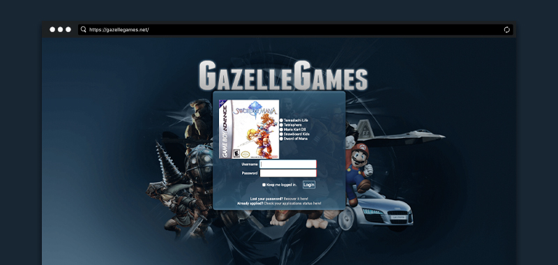 Madison : Gazellegames application sign up