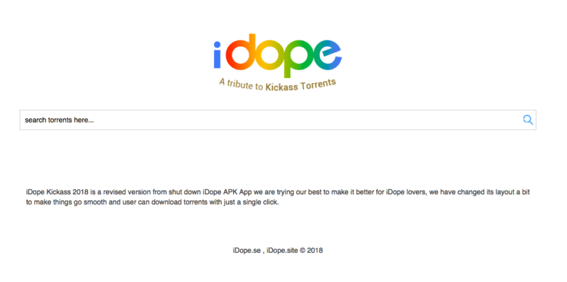 iDope torrent site review