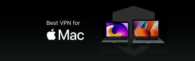 mac computers in black background