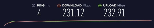 base speed during nordvpn speed test