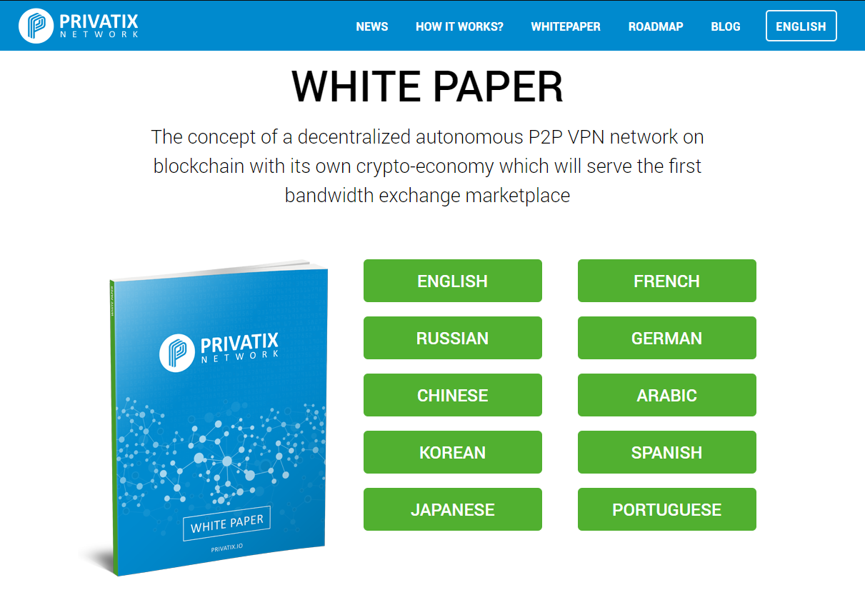 privatix whitepaper languages