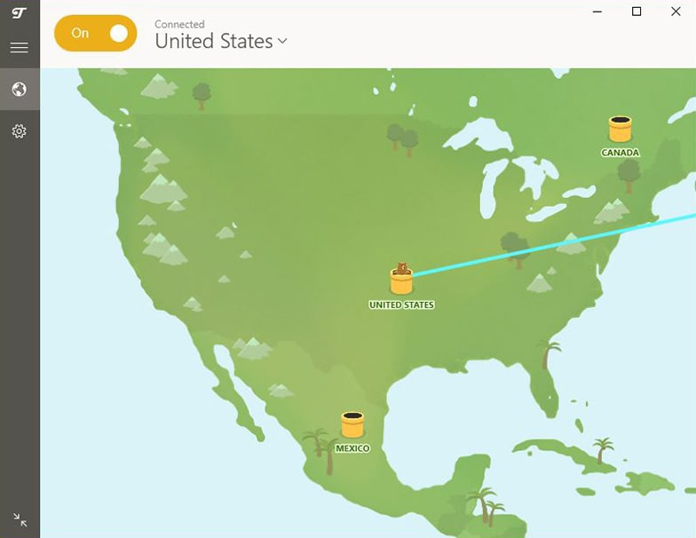 tunnelbear map us netflix