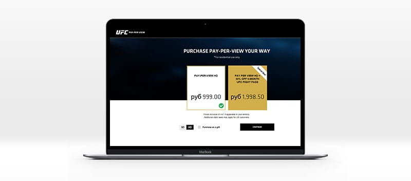 official UFC stream is not free