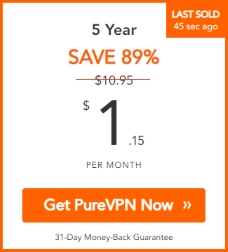 PureVPN - VPN for black friday